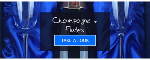 Champagne and flutes Gifts form Gifts International